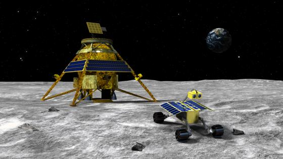 Rocket City Space Pioneers lander and rover artists conception
