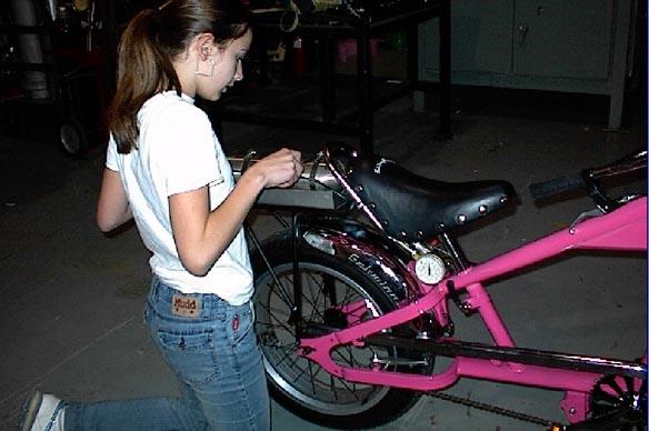 Sarah Pickens rocket bike build