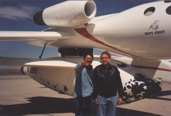Tim Pickens and Burt Rutan with SpaceShipOne