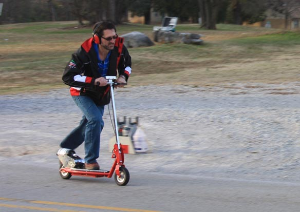 Tim gets the Jet Scooter underway