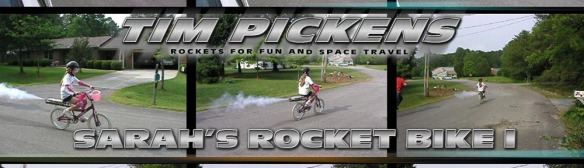 Sahra Pickens First Rocket Bike